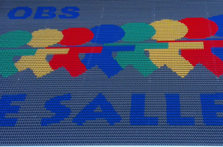 Bürstenmatte mit Logo